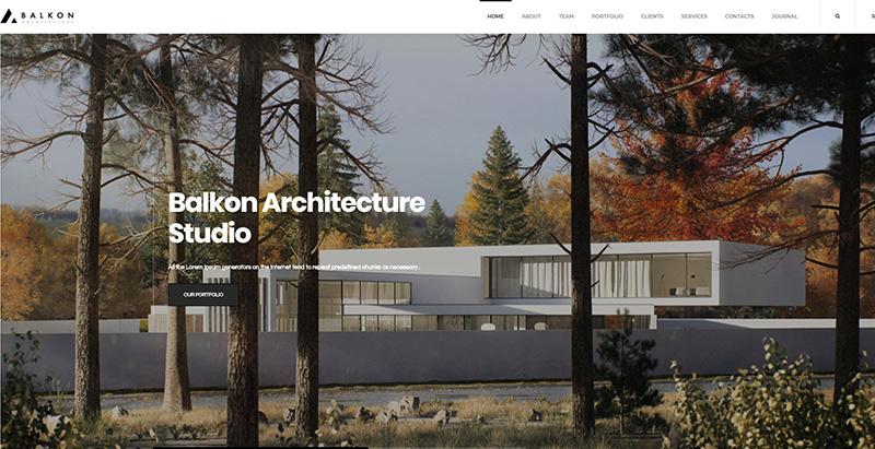 Balkon themes wordpress creer site web architecte cabinet architecture