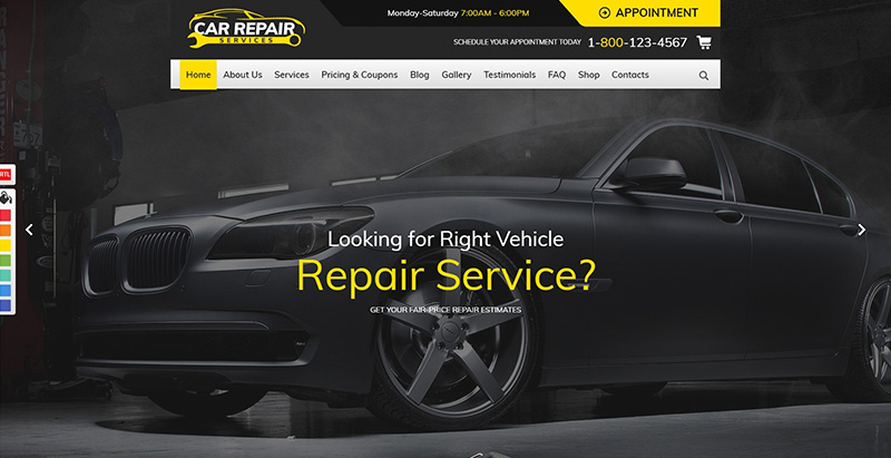 Car repair themes wordpress creer site web garage automobile atelier mecanique