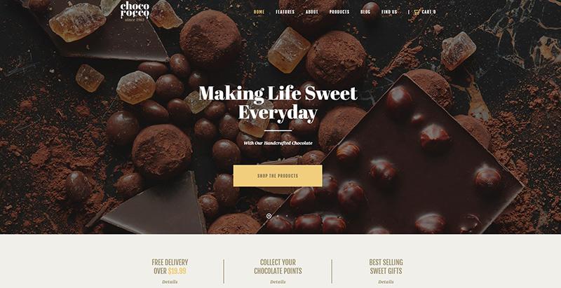 Chocorocco themes wordpress creer site internet restaurant traiteur restauration
