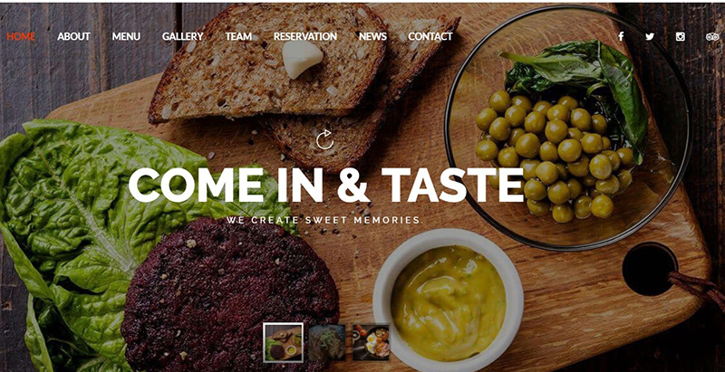 10 Temas de WordPress para crear un sitio de Internet restaurante ...