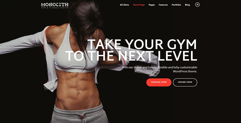 Ester Themes Wordpress Creer Site Internet Club Gym Fitness Sport