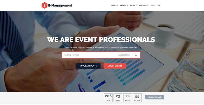 Temas de 10 WordPress para crear un sitio web de eventos | BlogPasCher