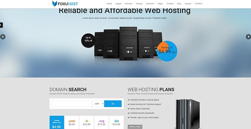 Temas de WordPress para crear un sitio web de alojamiento web ...