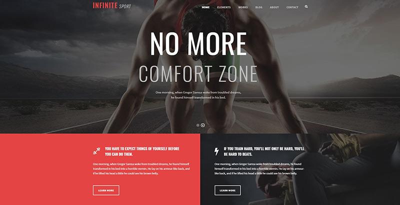 Infinite themes wordpress creer site web salle fitness