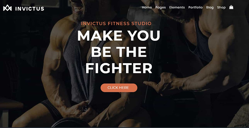 Invictus themes wordpress creer site internet club gym fitness sport