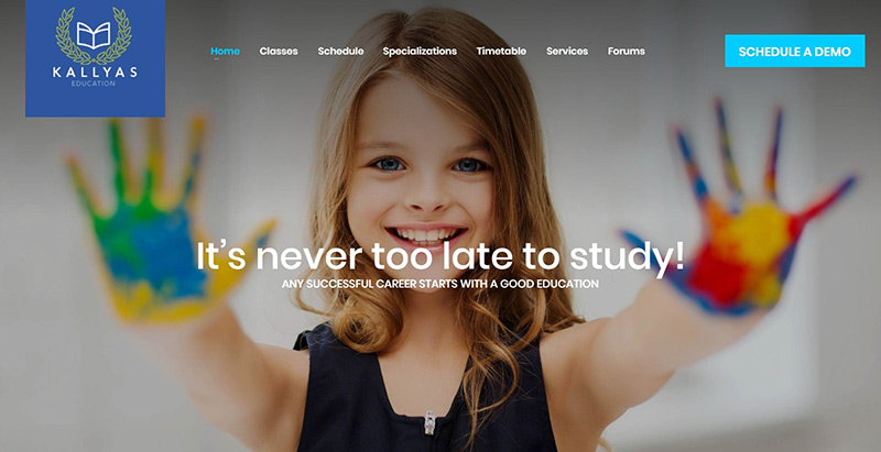 Kallyas themes wordpress creer site web college ecole maternelle