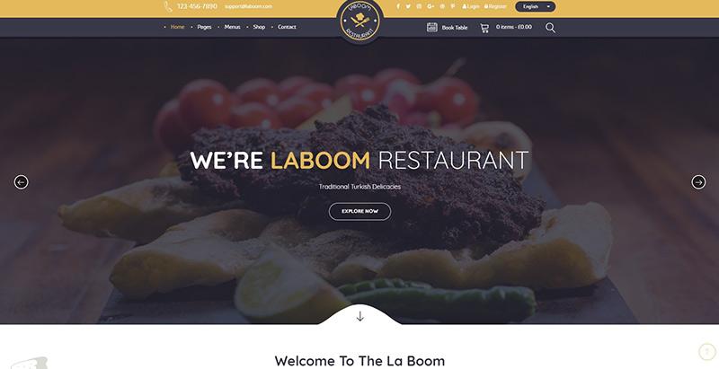 La Boom themes wordpress creer site internet restaurant traiteur restauration