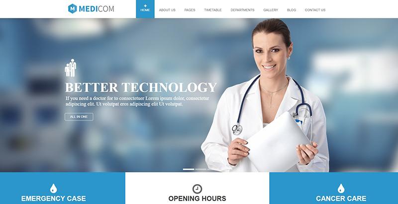 Temas de 10 WordPress para crear un sitio web de doctor | BlogPasCher