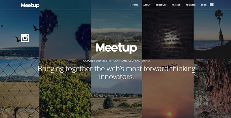 Meetup themes wordpress creer site web evenement conference seminaire