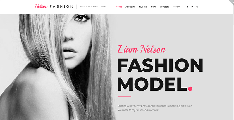 Nelson fashion theme wordpress creer site web top modèle