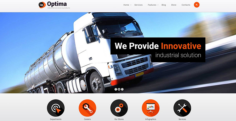 Optima Themes Wordpress Creer Site Internet Entreprise Transports