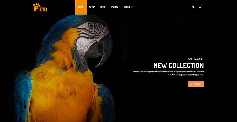 Peto themes wordpress creer site internet ecommerce vente en ligne