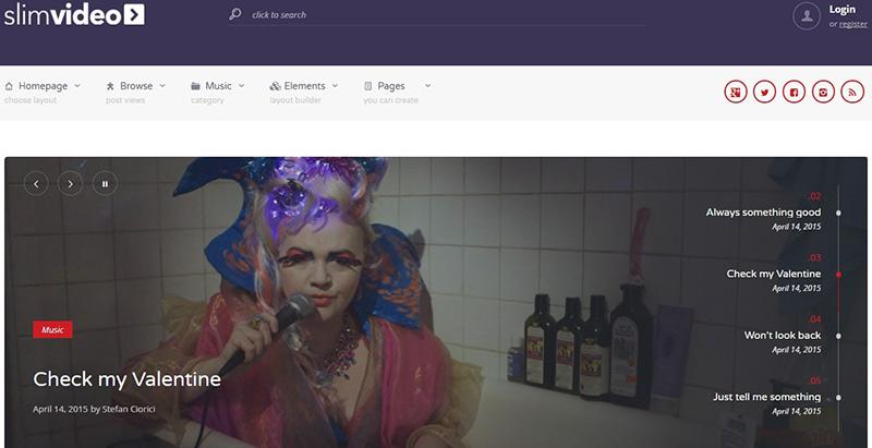 Slimvideo themes wordpress creer site web divertissement