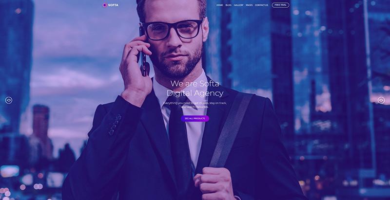 Softa themes wordpress creer site web entreprise numerique
