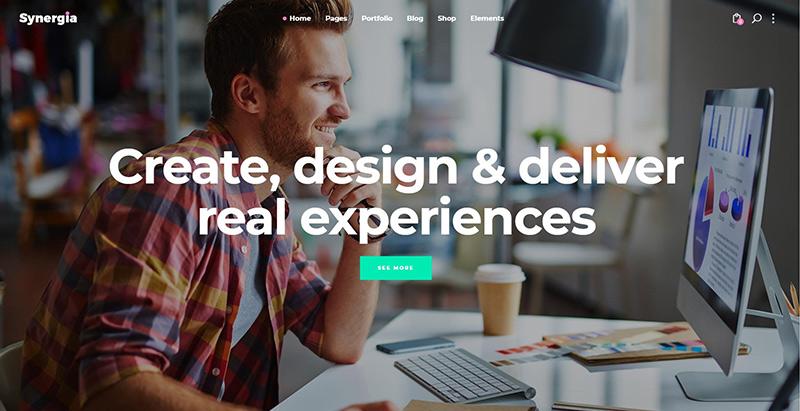 Synergia themes wordpress creer site web entreprise numerique