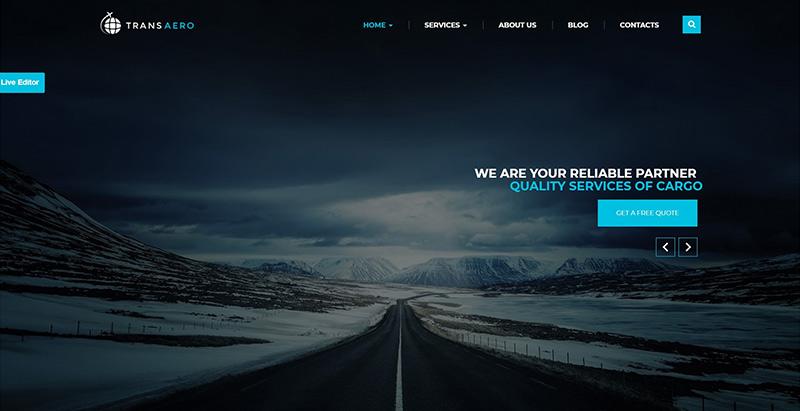 Transaero themes wordpress creer site internet entreprise transports