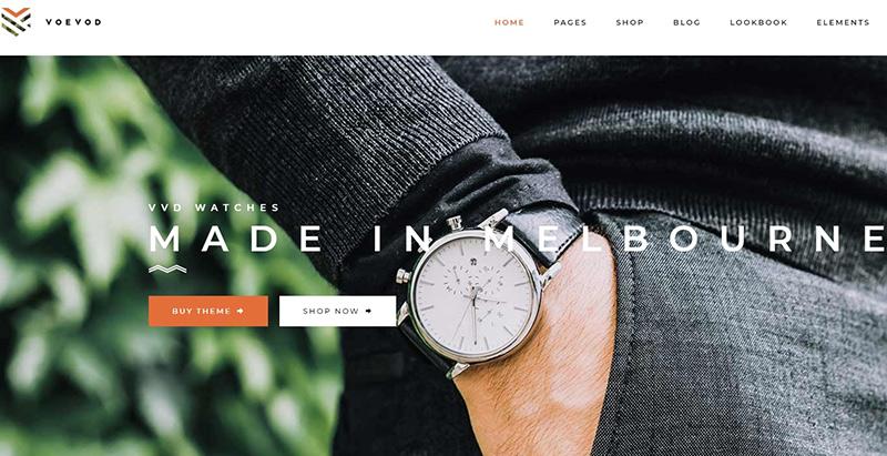 Voevod themes wordpress creer boutique ligne ecommerce achat vente en ligne