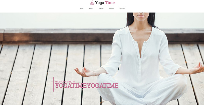 Yoga time themes wordpress creer site internet yoga fitness sport