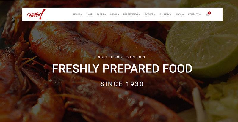 Butter themes wordpress creer site internet restaurant bistrot