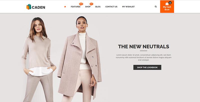 Caden themes wordpress creer boutique ligne site web ecommerce