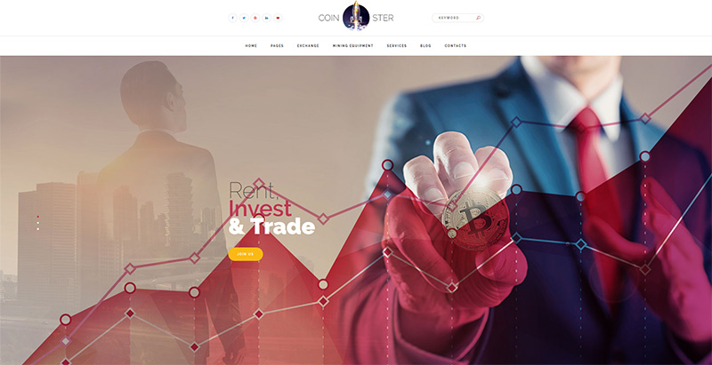 Coinster Themes Wordpress Creer Site Web Entreprise Crypto Monnaie Devise
