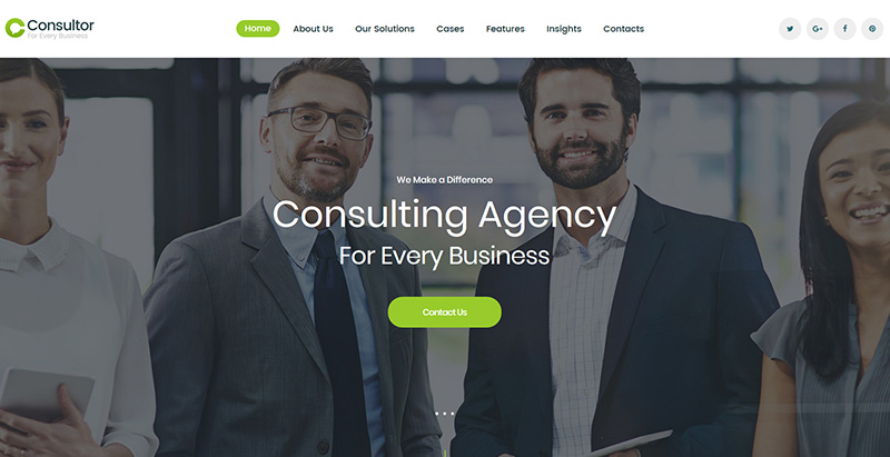 Consultor themes wordpress creer site internet entreprise agence compagnie