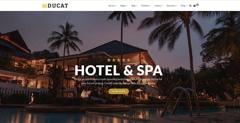 Ducat themes wordpress creer site internet hotel motel spa
