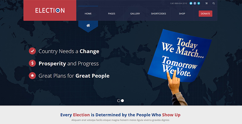Election themes wordpress creer site internet parti politique