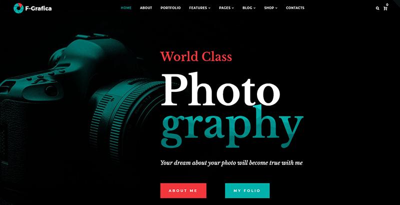 F grafica theme wordpress photography portfolio