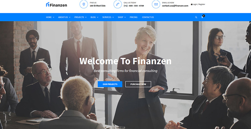 Finanzen themes wordpress creer site web entreprise financiere compatibilite audit