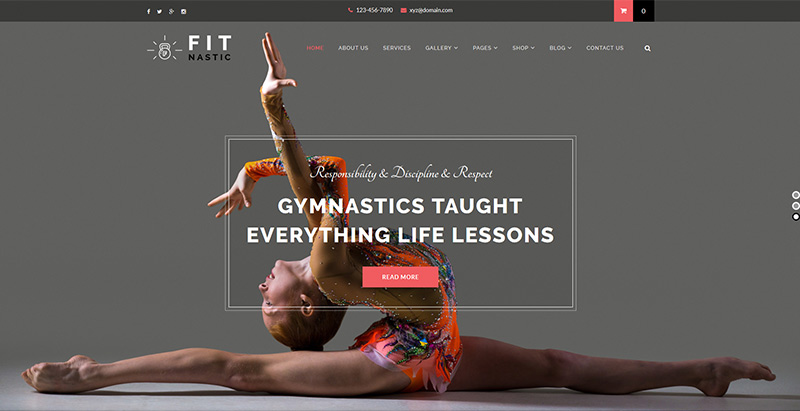 Fitnastic themes wordpress creer site web club fitness gym yoga