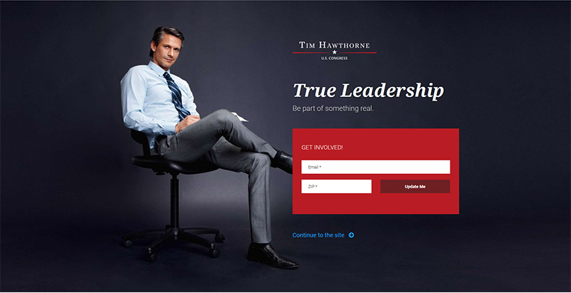 Frontrunner themes wordpress creer site internet parti politique