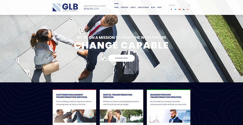 Global themes wordpress creer site internet entreprise agence compagnie