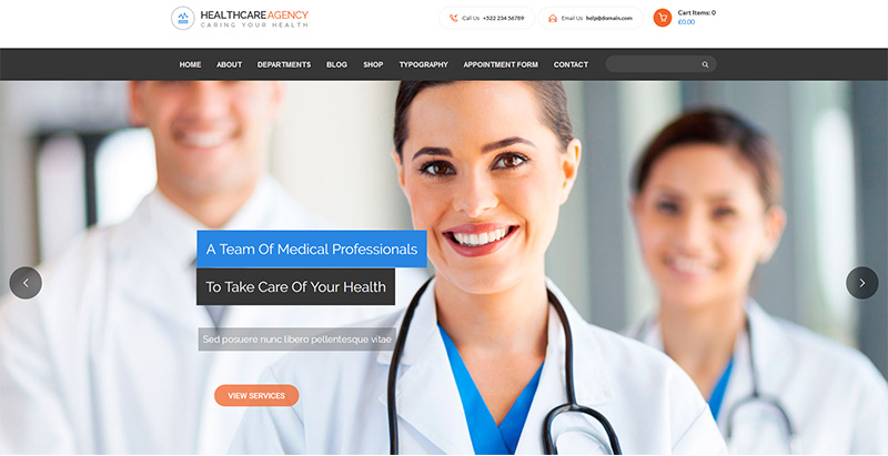 Healthcare themes wordpress creer site internet clinique hopital