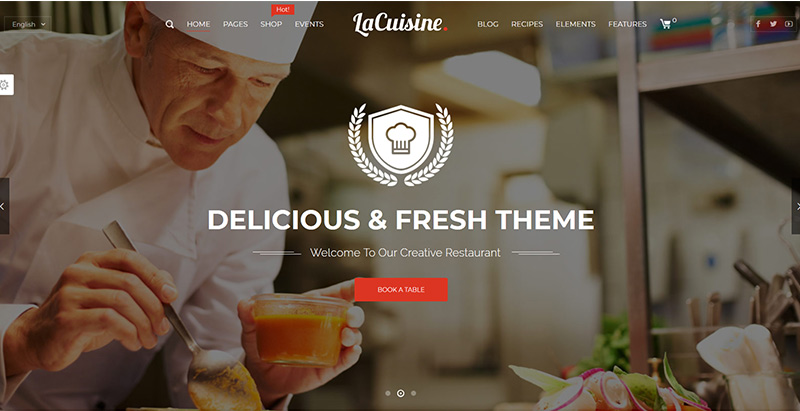 Lacuisine themes wordpress creer site internet restaurant bistrot