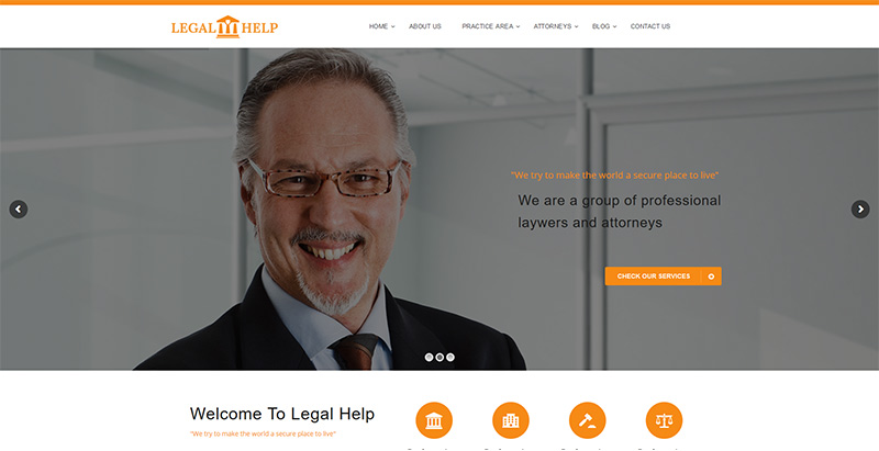 Legal helpthemes wordpress creer site internet avocat procureur notaire