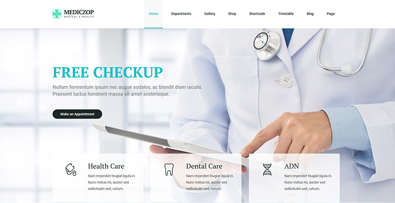 Temas de 9 WordPress para crear un sitio web de un hospital ...