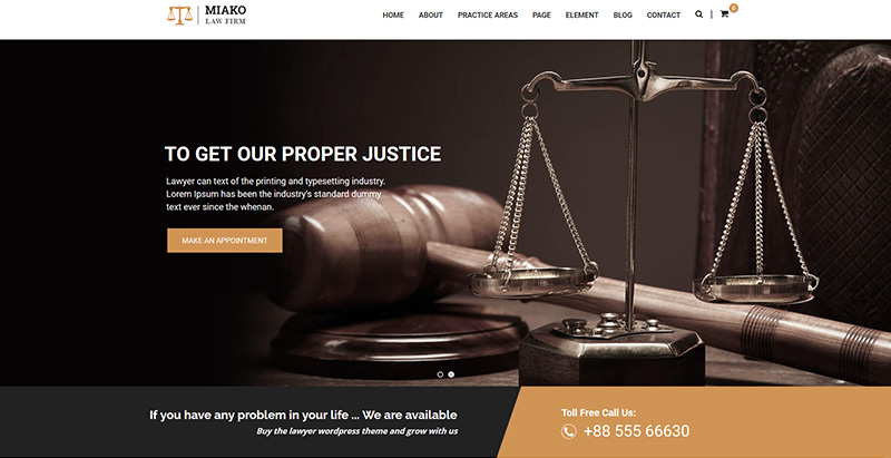 Miakothemes wordpress creer site internet avocat procureur notaire