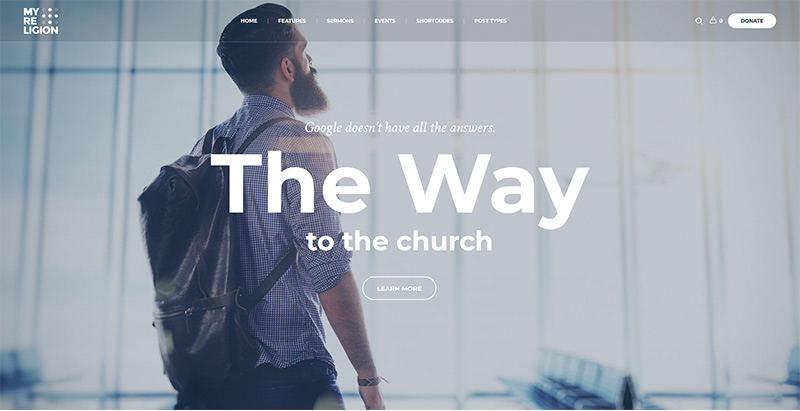 My religion themes wordpress creer site internet eglise religion chapelle