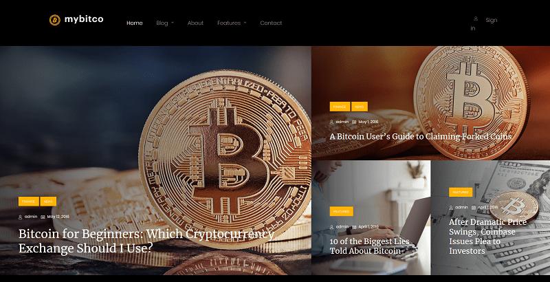 meilleurs thèmes WordPress de crypto-devises - Mybitco