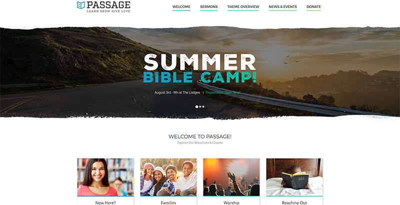 Passage themes wordpress creer site internet eglise religion chapelle