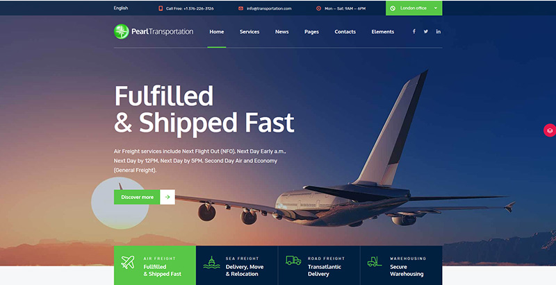 Pearl themes wordpress creer site internet entreprise transports