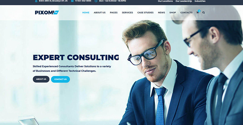 Pixomi themes wordpress creer site web entreprise financiere compatibilite audit