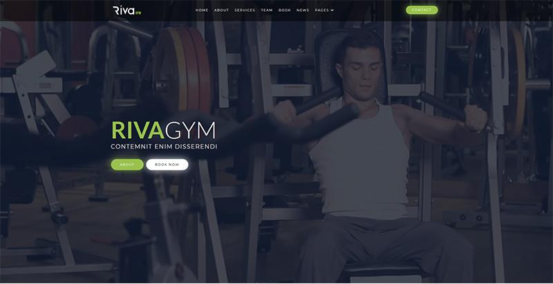Riva themes wordpress creer site web club fitness gym yoga