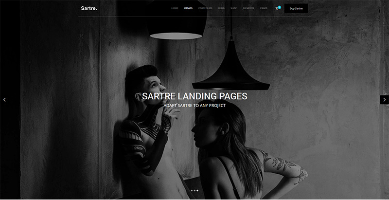 Sartre themes wordpress creer site internet agence photographe