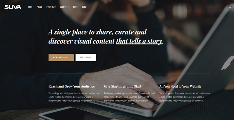 Sliva themes wordpress creer site internet agence photographe