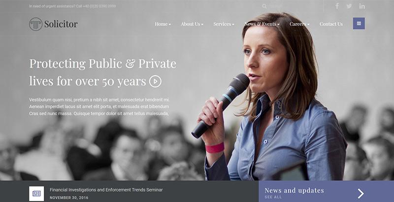 Solicitorthemes wordpress creer site internet avocat procureur notaire