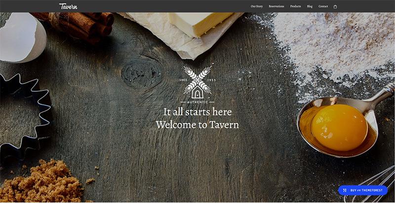 Tavern themes wordpress creer site internet restaurant bistrot