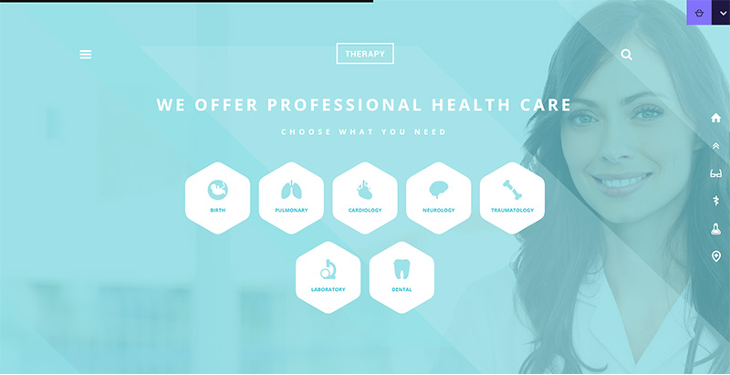 Therapy themes wordpress creer site internet clinique hopital