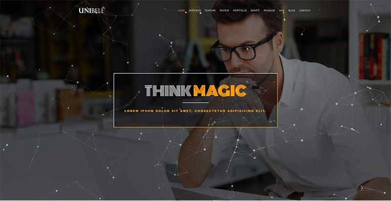 Unibell themes wordpress creer site web start up entreprise agence